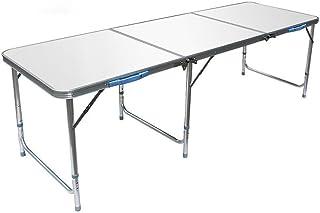 GWM Armoires informatique Table pliante Table pliante d'extérieur, table portable, étanche et durable, 180x60x (55-72) cm ...