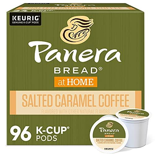 Panera Bread Salted Caramel, Single-Serve Keurig K-Cup Pods, Flavored Light Roast Coffee, 96 Count