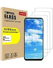 OJBKase [3 Unidades Protector de Pantalla Pare Huawei Mate 30 Lite, Cristal Templado Vidrio Templado Protector de Pantalla con [2.5d Borde Redondo] [9H Dureza] [Alta Definicion]