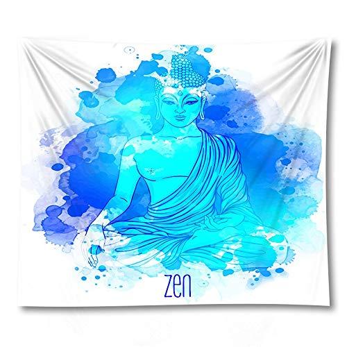 PPOU Statua di Buddha indiano arazzo panno appeso a parete tappeto Yoga psichedelico sfondo Muro di casa panno appeso panno A10 150x200cm