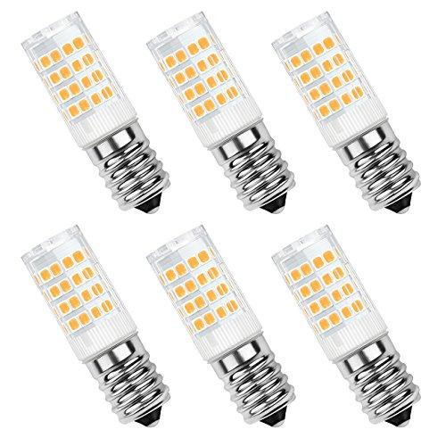 SHINE HAI Lampadina LED E14 4W, Bianco caldo 2700k, (pari a 40W), 350lm,51x 2835 LED SMD, AC 220-240V,Confezione da 6