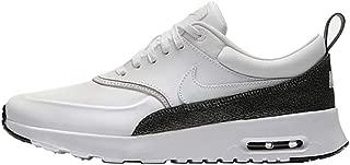 Nike Women's Air Max Thea Premium Low-Top Sneakers Metallic Hematite-Black-White 105, 4 UK 4 UK