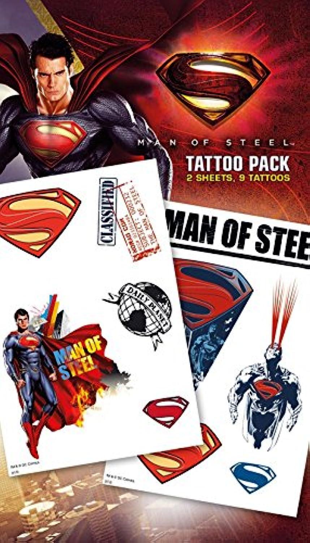 Superman 'Man of Steel' Temporary Tattoos