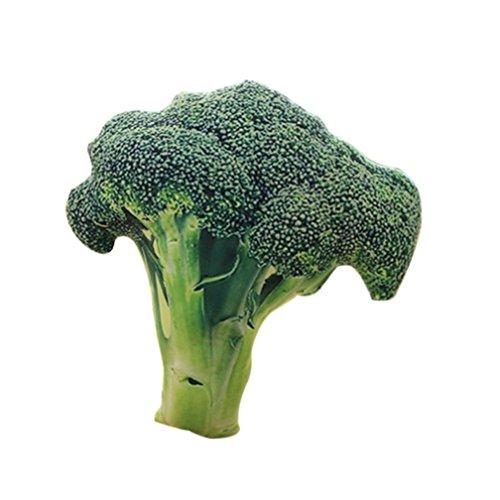 Good01 Creative Peluche Simulation Légumes Throw Coussin Oreiller 50,8 cm Bureau Canapé Coussin de Dossier de Chaise, Broccoli, 2