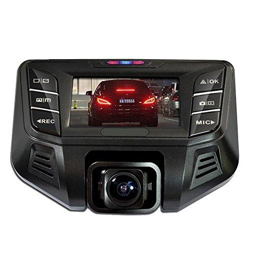 Stoga D003 Dash Cam doppia fotocamera 1080P Doppia fotocamera anteriore fotocamera 170 gradi macchina fotografica posteriore 120 gradi grandangolare Super Video visione notturna modalità HD 1920 x 1080 DVR