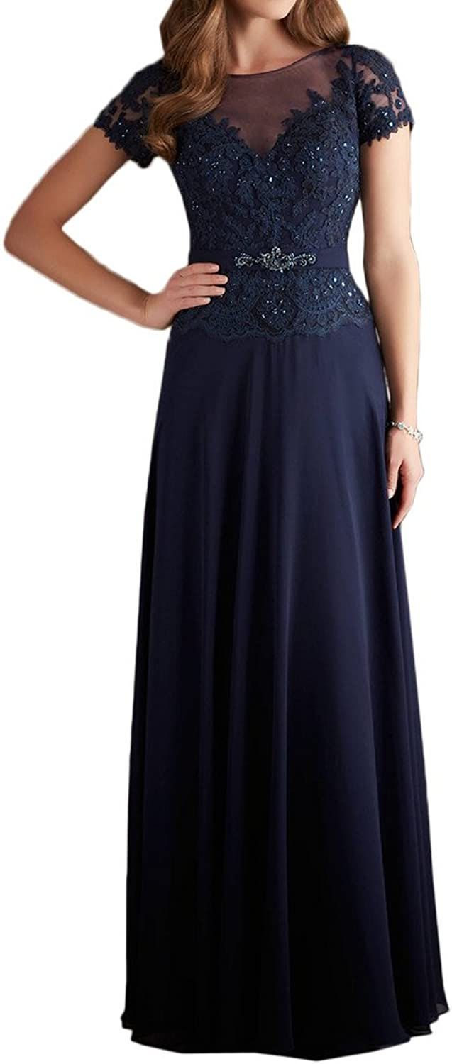 MILANO BRIDE Formal Wedding Party Dress Prom Gown Aline Short Sleeves Applique
