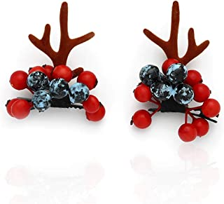 Fashey Antlers Hair Clips Hairpin Hair Accessories for Christmas Halloween Party Cosplay Costume Photography Hair Accessor...