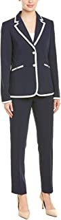 Tahari by ASL Women's Contrast Jacket and Pants
