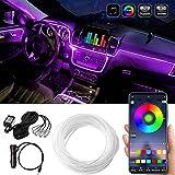 LED Innenbeleuchtung Auto,Auto LED Lichtbänder,5 in 1 RGB Auto Innenraumbeleuchtung mit APP, 236inch 29 modes farbe Neonleuchtleisten für das Auto zur Autodekoration, Stimmungslicht