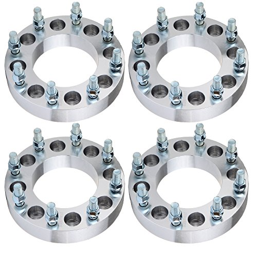 "ECCPP 4X 1.5"" Wheel Spacer Adapters 8 lug 8x6.5 to 8x180 117mm 14x1.5 Compatible with Express Silverado Express Suburban Avalanche 