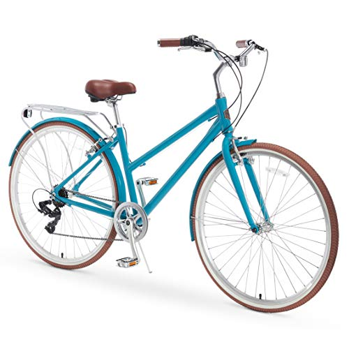 Fantastic Prices! A/O Serena Women's Bicycle 7-Speed Commuter Bike, Teal, One Size