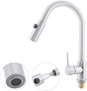 Single Handle Faucet, Brushed Faucet, Brushed Nickel Sink Faucet Brass for Kitchen home(#2)