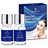Skin Tag, Wart & Mole Remover with Repair Lotion Set, Mole Corrector | Effective, Fast Acting and Safe