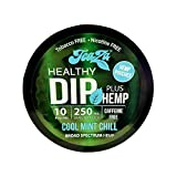 TeaZa Energy Smokeless Alternative with Hemp | Quit Chewing and Dipping Snuff | Nicotine and Caffeine Free Herbal Energy Pouch | Cool Mint Chill | 1 Pack