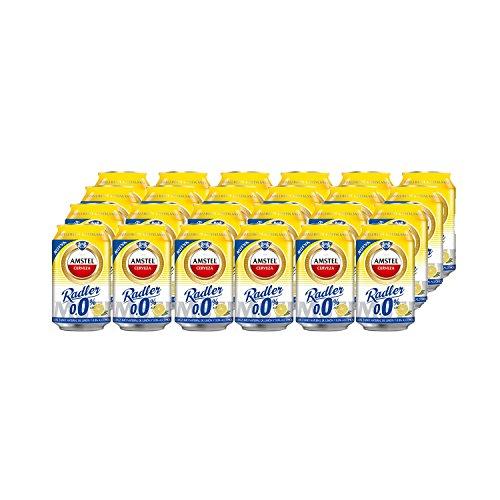 Amstel Radler 0.0 Limon Cerveza - Caja de 24 Latas x 330 ml -Total: 7.92 L