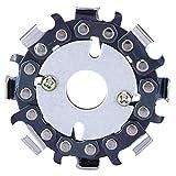 Utensile per sega circolare a lama circolare a 8 denti in acciaio legato con disco a catena da 2,5 pollici per la lavorazione del legno