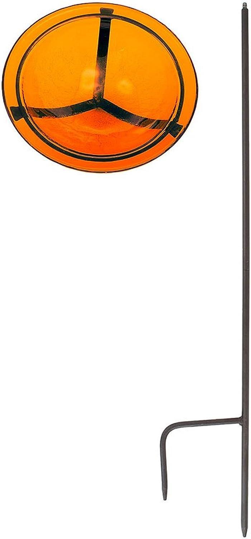 (Mandarin) - Achla Designs GBB06 Mandarin Crackle Bowl with Stand GBB