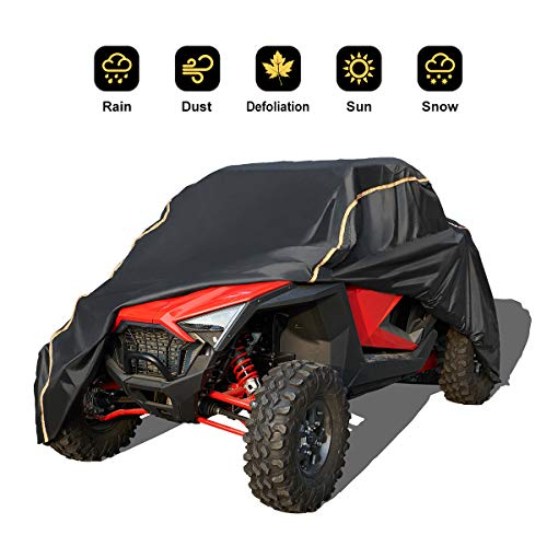 RZR PRO XP Cover, KEMIMOTO 2020 UTV Waterproof All Weather Oxford Storage Covers with Rlective Strip Replacement for Polaris RZR PRO XP Protects Side by Side Wind-Proof from Sun Snow Rain and UV Rays
