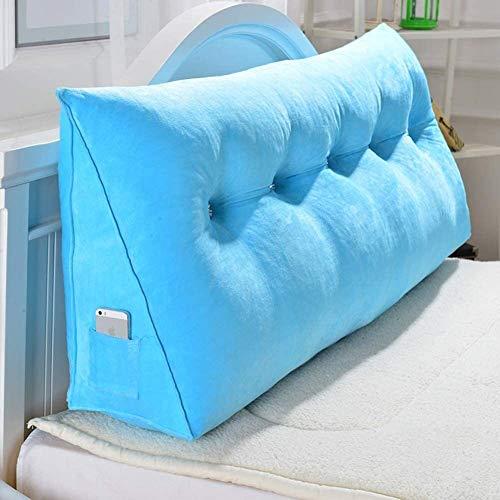 Lanrui Stützkissen zum Schlafen Aufrecht weiche Rückenlehne Positionierung Unterstützung Kopflendenkissen Lesekissen mit abnehmbarem Bezug (Color : Brown, Size : 60x20x50cm(24x8x20inch))