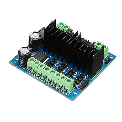 Ywzhushengmaoyi L298N Motor Driver Module Four Chaneel Motor Drive Smart Car Module Geekcreit for A-r-d-u-i-n-o - products that work with official A-r-d-u-i-n-o boards 3pcs Electronics Module Parts