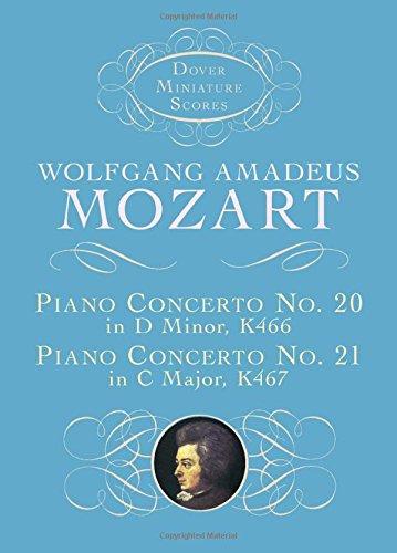 Piano Concerto No. 20 In D Min/Piano Concerto No. 21 In C: Taschenpartitur für Orchester, Klavier (Dover Miniature Music Scores)