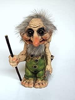 Nyform Troll Large Handmade Troll with Walking Stick
