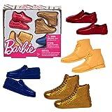 Barbie – 4 Paires de Chaussures de Ken – Accessoires pour Poupée Mannequin