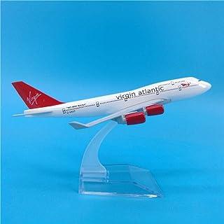 16 cmバージンアトランティック航空飛行機モデルボーイング747メタルダイキャスト航空モデルB747航空路航空機モデルスケールグッズ1:400