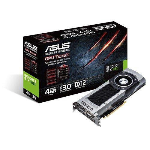 ASUS GeForce GTX 980-4GD5 - Tarjeta gráfica (NVIDIA, 1178 MHz, 4096 MB, GDDR5-SDRAM, 256 bit)