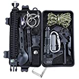 Survival Gear and Equipment Kit, Gifts for Men Dad Husband, Outdoor Emergency Survival Tools 13 in 1 for Fishing Hunting Camping Hiking, Cool Gadget for Emergency Camping Gear Kit.