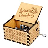 RXAMYDE Festivals Wood Music Box for Kids Toys, 18 Notes Mechanism Antique Laser Engraved Hand Crank Musical Box Best Gift for Birthday,All Festivals, Anniversary, Valentine's Day
