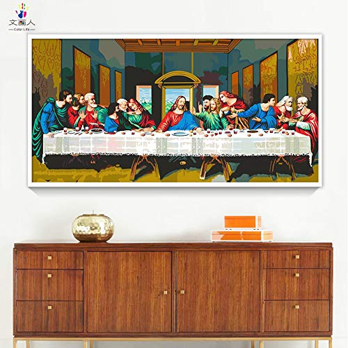 Paint by Number Kits 12 x 24 inch Canvas DIY Oil Painting for Kids, Students,...