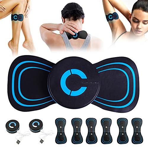 Piklodo Elektromagnetisches Wellenmassagegerät, 1/2/3 Set, 6 Modi, tragbares Mini-Zervikal-Massagegerät, USB-Aufladung, elektrisches Massagegerät für Nacken, Schulter, Rücken, Taille, Arme, Beine