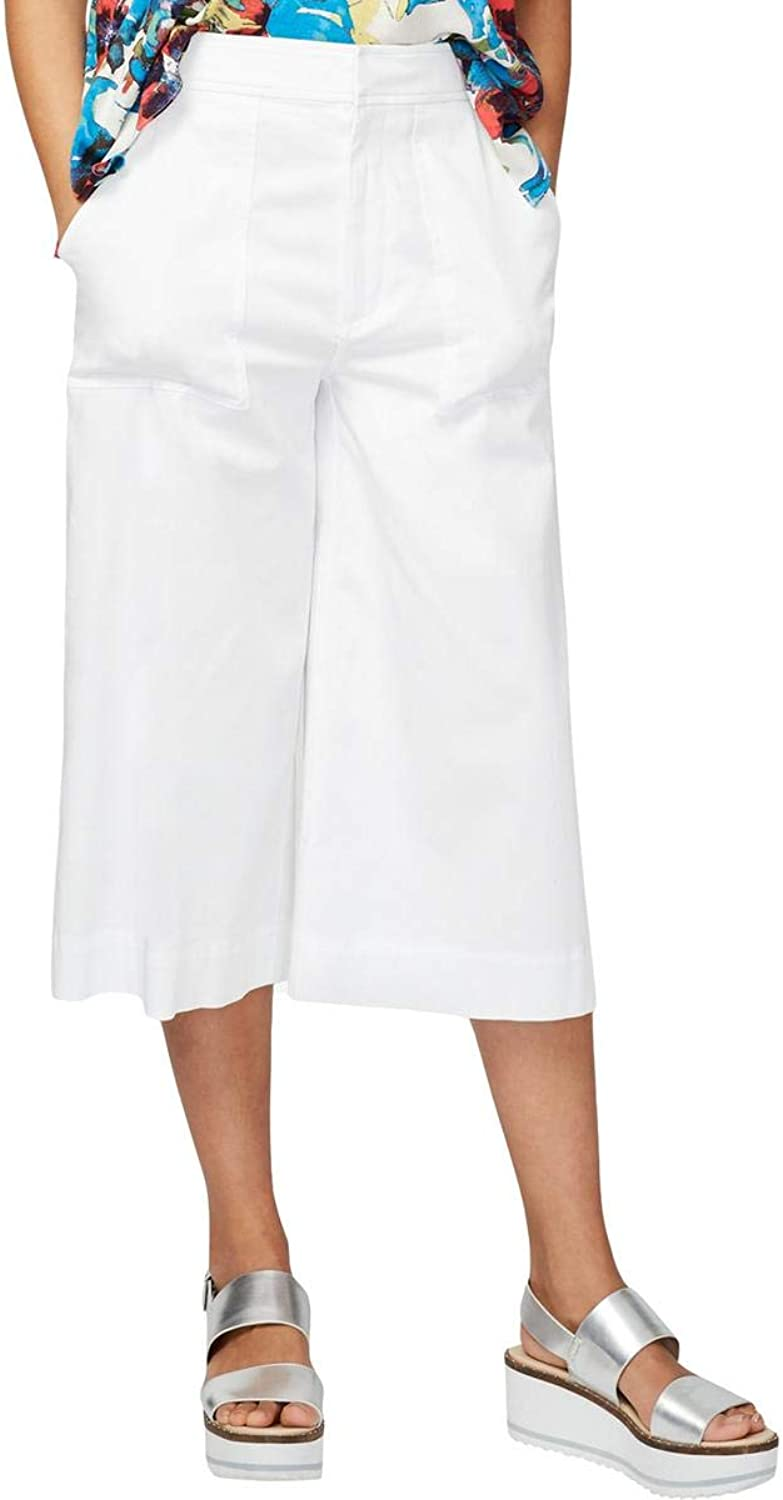 Rachel Rachel Roy Womens Work Wear Office Gaucho Pants White 10