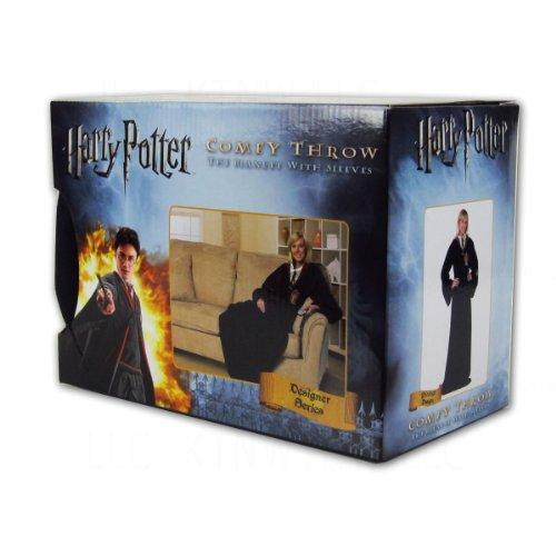 Warner Bros Harry Potter Comfy Throw Gryffindor House Robes Fleece Blanket with Sleeves