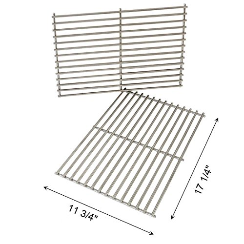 FAS INDUSTRY Cladding BBQ Cooking Grate Replacement Parts for Weber 7527 9930 Spirit and Lowes, Outdoor Cooking Grill Grid for Weber Grill Parts Replacement- 11 3/4' x 17 1/4', Set of 2