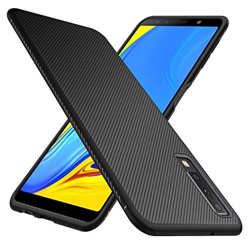 iBetter para Samsung Galaxy A7 2018 Funda Fina de Silicona, Samsung Galaxy A7 2018 Funda Suave y Duradera, Funda de TPU. Funda para Smartphone Samsung Galaxy A7 2018. Negro