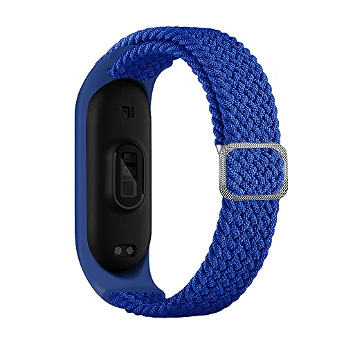 Leiai Correa para Xiaomi Mi Band 6,Bandas De Correa Repuesto,Correas Reloj, Nylon Reloj Recambio Brazalete Correa Repuesto Strap Wristband para Xiaomi Mi Band 6 5 4 3 Accessories (azul)