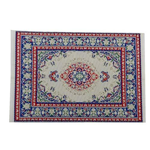 Oulensy Puppenhaus Miniatur-Dekoration Fußboden Teppich Teppich Mehrfarbig 14 x 10 cm