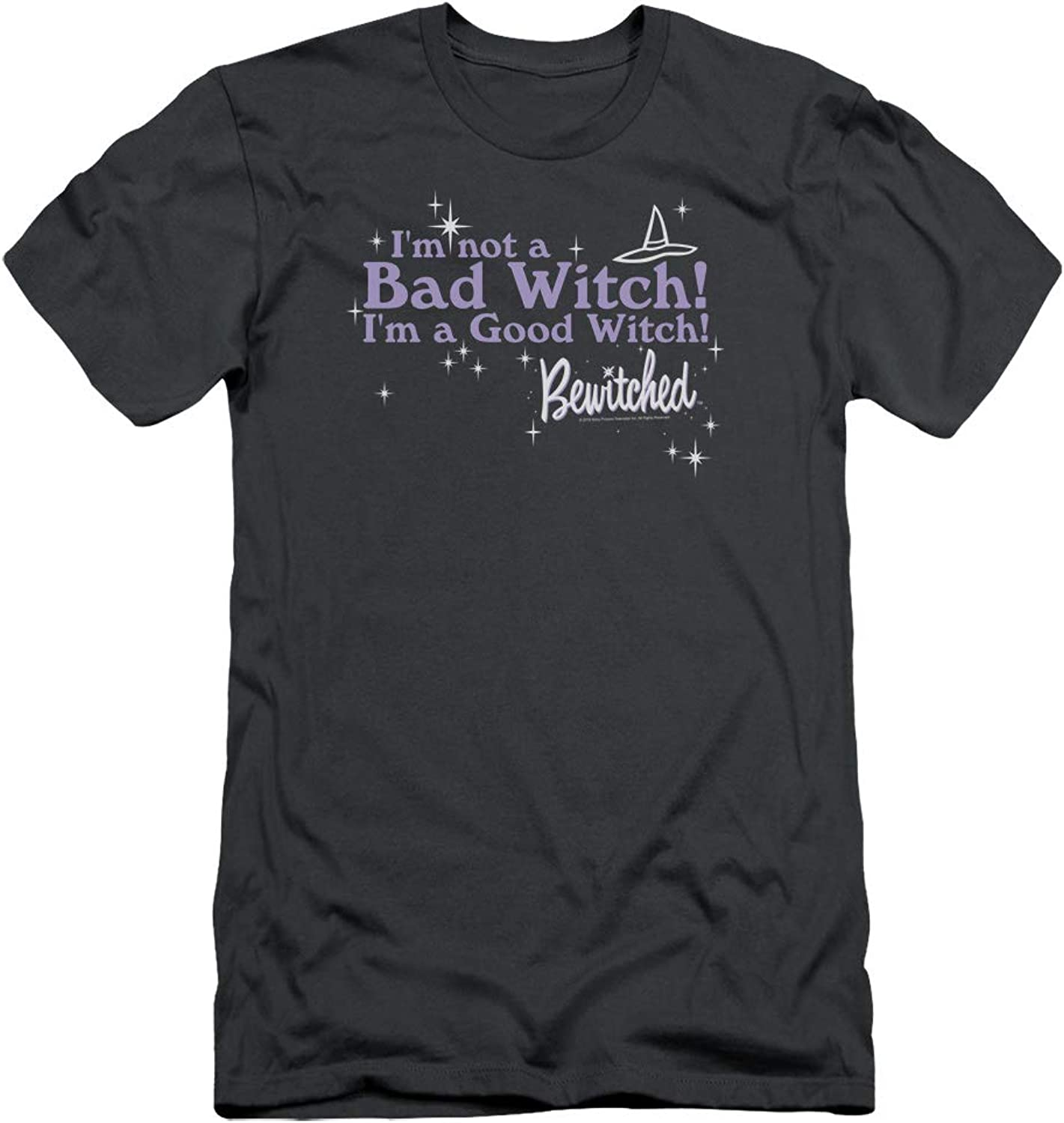 Bewitched  Mens Bad Witch Good Witch Premium Slim Fit TShirt