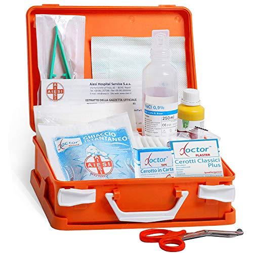 AIESI® Cassetta medica di pronto soccorso con ALLEGATO 2 per aziende meno 3 dipendenti # Conforme DM388/DL81 # Made in Italy