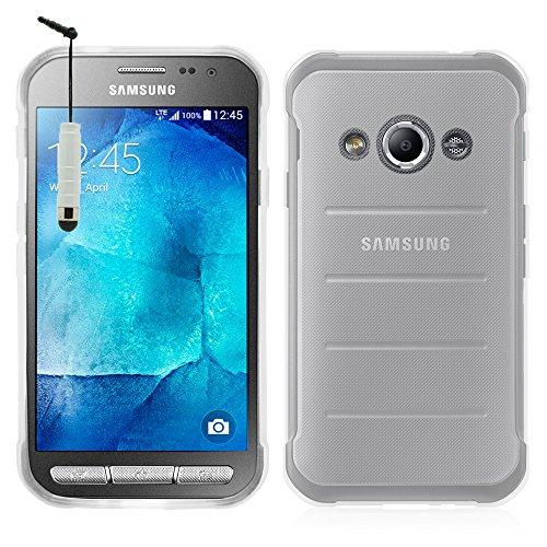 Annart Schutzhülle aus Silikon-Gel, weich, ultradünn, für Samsung Galaxy Xcover 3 SM-G388F/ Xcover 3 (2016) Value Edition SM-G389F + Mini-Eingabestift, transparent