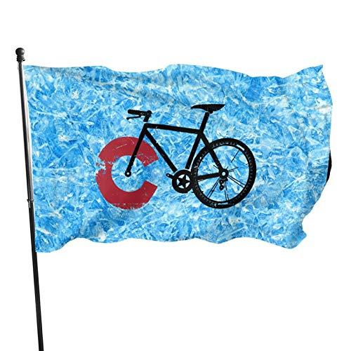 Colorado Mountain Bike 3x5 Ft American Flag, Outdoor Banner, Family Banner, Garden Banner Black