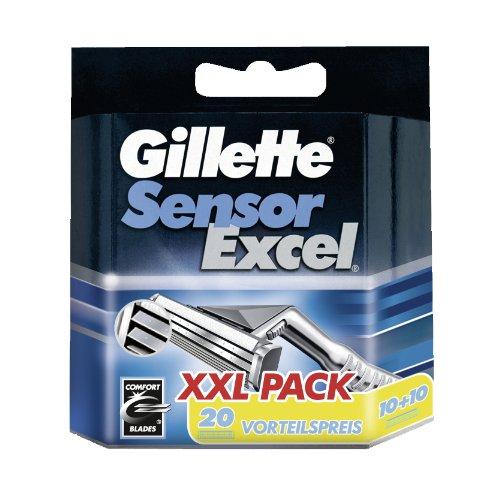 Auslaufmodell Gillette SensorExcel Systemklingen 20er, 20 Stück