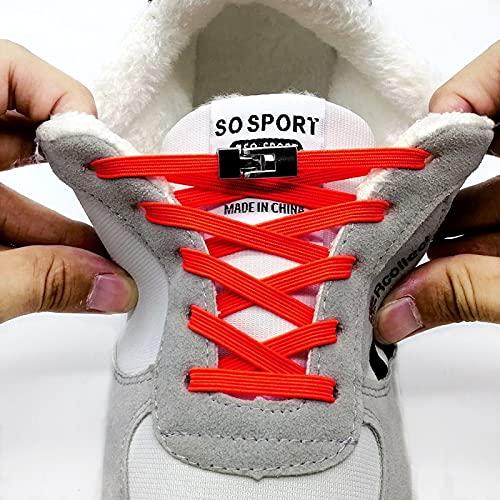 TOSISZ Cordones Elásticos con Hebilla Cruzada Quick No Tie Cordones para Zapatos