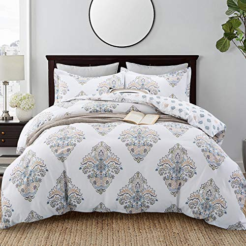 Duvet Cover King Size Hotel Collections Super Soft Egyptian Cotton 3 Piece Modern Bedding Medallion...