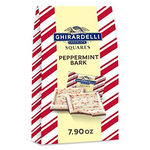 Ghirardelli Peppermint Bark Squares Bag, Milk Chocolate, Peppermint Bark Milk Chocolate, 7.9 oz