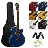 Tiger ACG4-BL - Guitarra Electroacústica (Incluye Accesorios), Color Azul