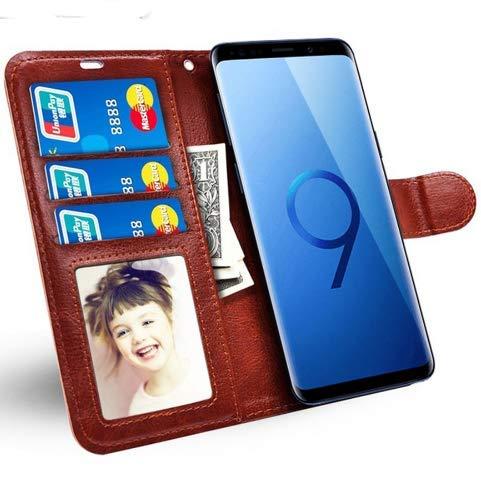 TopgadgetsUK iPhone X Xs Case, Slim Book Stijl Portemonnee Leer Flip 3 Card Slots Foto ID Veilige Magnetische Sluiting Case Cover iPhone X Xs Stand Case Zwart
