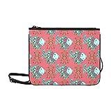 Bolsos de moda lindos Cute Cartoon Sea Food Fish Squid Correa de hombro ajustable Cross Body Bag de turismo para mujeres Niñas Damas Cute Clutch Bags Cute Crossbody Bags